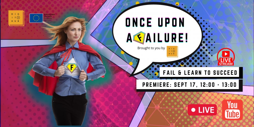 Banner for Once Upon a Failure event september